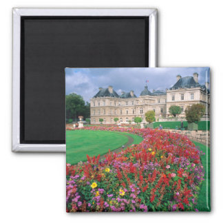 Luxembourg Palace in Paris, France. Square Magnet