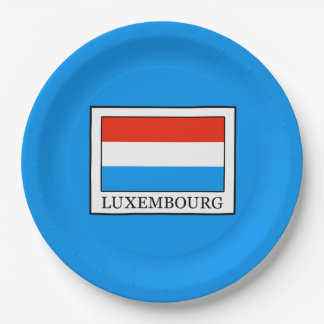 Luxembourg Paper Plate