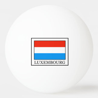 Luxembourg Ping Pong Ball