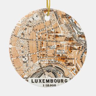 Luxembourg Round Ceramic Ornament