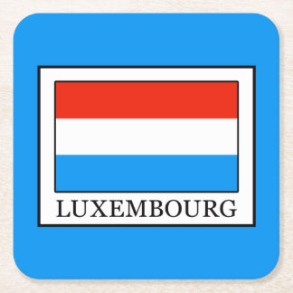 Luxembourg Square Paper Coaster