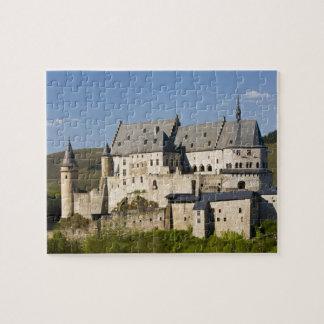 Luxembourg, Vianden. Vianden Chateau (b. 15th Jigsaw Puzzle