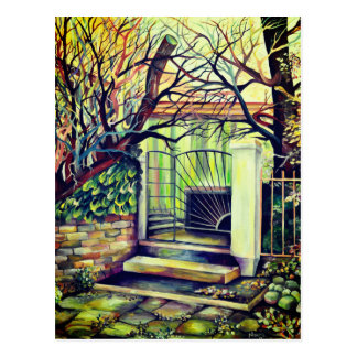 Luxembourg - Vintage Bohemian Painting Postcard