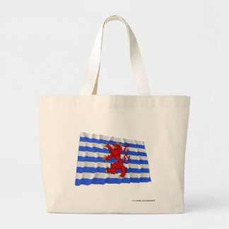 Luxembourg Waving Flag (de facto) Large Tote Bag