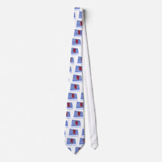 Luxembourg Waving Flag (de facto) with Name Tie