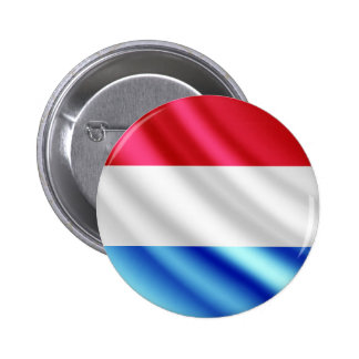 Luxembourg waving flag pinback button