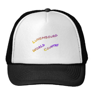 Luxembourg world country,  colorful text art trucker hat