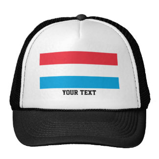 Luxembourger flag trucker hat