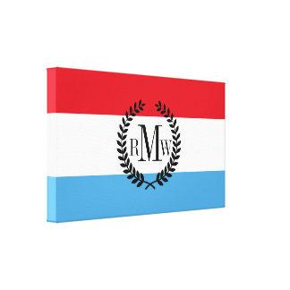 Luxemburg Flag Canvas Print