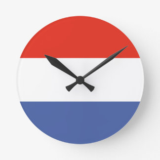 Luxemburg flag clock