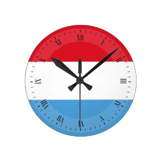 Luxemburg Flag Clocks