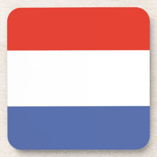 Luxemburg flag drink coasters