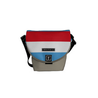 Luxemburg Flag Messenger Bags