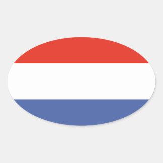 Luxemburg flag oval sticker