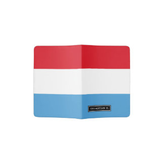 Luxemburg Flag Passport Holder