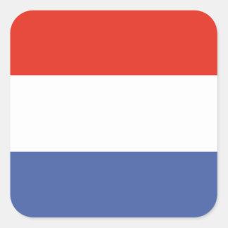 Luxemburg flag square sticker