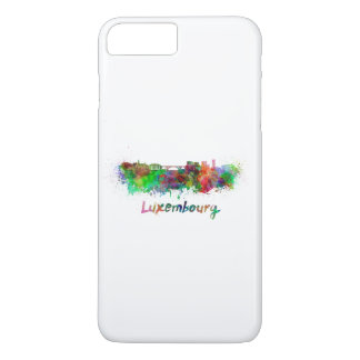 Luxemburg skyline in watercolor iPhone 7 plus case