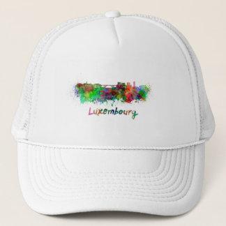 Luxemburg skyline in watercolor trucker hat