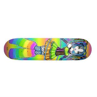 """Luxie"" Rainbow Cyber Goth Faerie Skate Board"