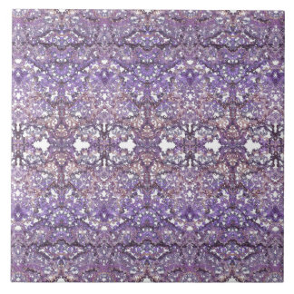 Luxurious,elegant laced pattern in faded-lilac tile