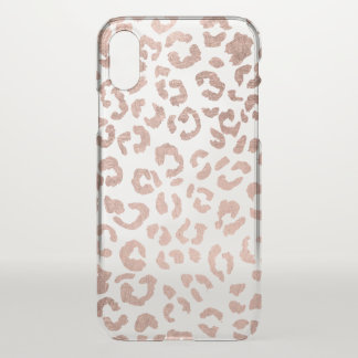 Luxurious hand drawn rose gold leopard print iPhone x case