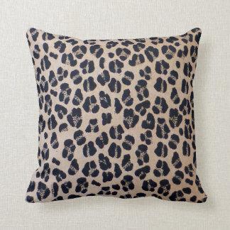 """Luxurious Leopard Print Throw Pillow 16"""" x 16"""""""