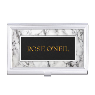 Luxurious Marble Business Card Holder