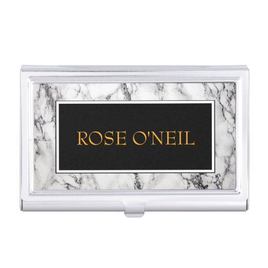Luxurious Marble Business Card Holder Zazzle