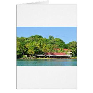 Luxurious resort card