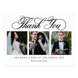Luxurious Script EDITABLE COLOR Thank You Postcard