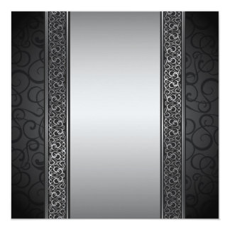 Luxurious Silver Layout Card