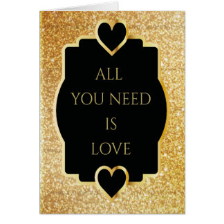 Luxurious Valentines Day Card