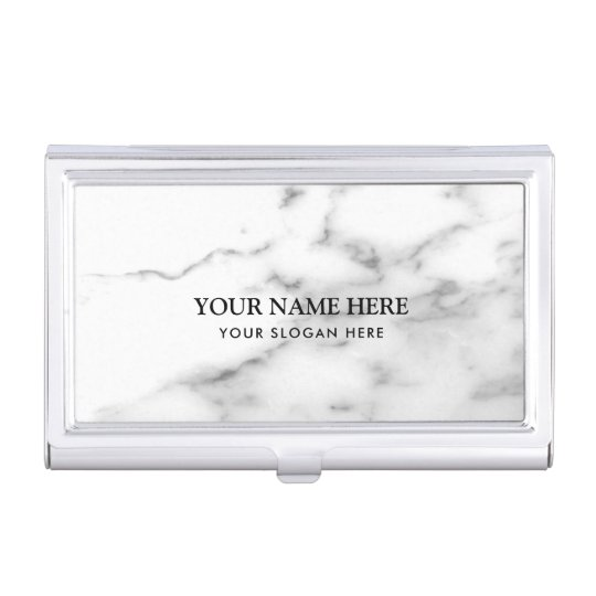 Luxurious white marble stone company name business card cases
