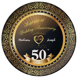 Luxury 50th anniversary Decorative Porcelain Plate
