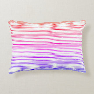 Luxury art pillow with Summer stripes!