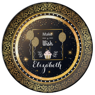 Luxury birthday Porcelain Plate With light effects