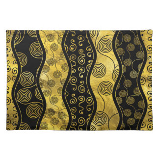 Luxury  Black and Gold African Pattern Placemat