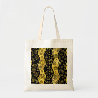 Luxury  Black and Gold African Pattern Tote Bag