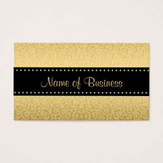 Luxury Black and Gold Jaguar Animal Print Business Card