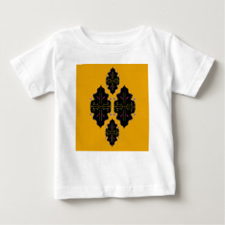 Luxury black and gold Ornaments Baby T-Shirt