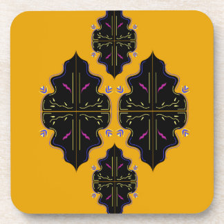 Luxury black and gold Ornaments Coaster