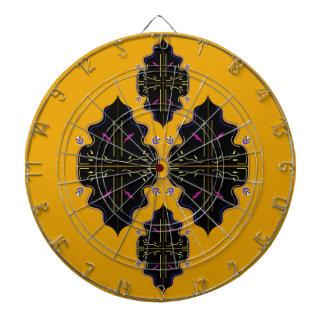 Luxury black and gold Ornaments Dartboard