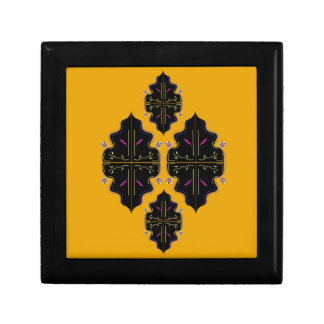 Luxury black and gold Ornaments Gift Box
