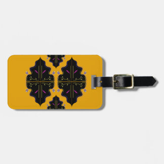 Luxury black and gold Ornaments Luggage Tag