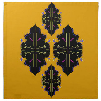 Luxury black and gold Ornaments Napkin