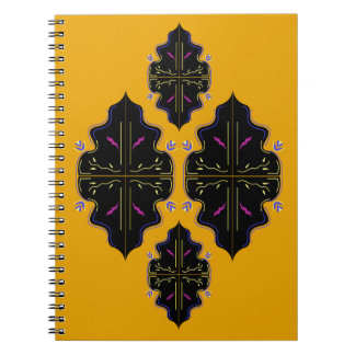 Luxury black and gold Ornaments Notebooks