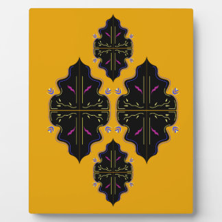 Luxury black and gold Ornaments Plaque