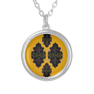 Luxury black and gold Ornaments Silver Plated Necklace