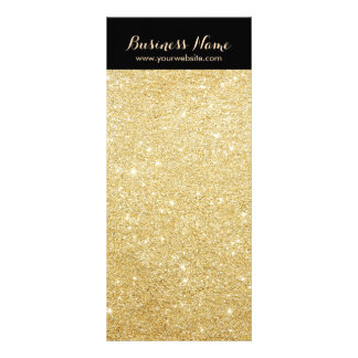 Luxury Black & Gold Glitter Background Rack Cards