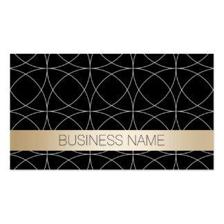 Luxury Black Gold Nutrition Business Card